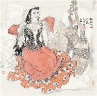 帕尔古丽 (lady) by liu xuanrang