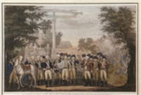 the british surrendering their arms to general washington at yorktown by john francis renault