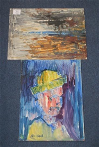 rain clouds over southport (head study) by christopher isherwood