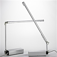 two articulated table lamps by gerald abramovitz