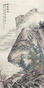 水阁听泉 (landscape) by lin boxi