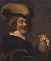 mand med en pose penge by gysbert (gerard) van der kuil