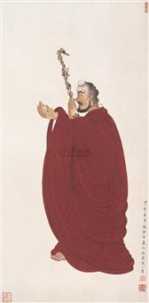 红衣罗汉 (buddha) by qi he