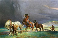 ploughing by ernest herbert whydale