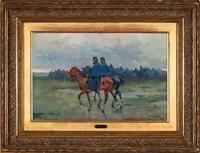 militares a caballo by josep (josé) cusachs y cusachs
