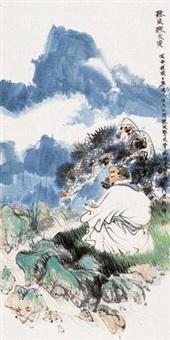 听风听水图 镜框 设色纸本 by lin yong