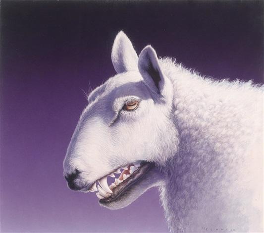 wolf im schafspelz by gottfried helnwein