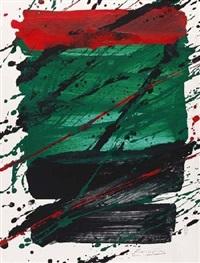komposition in rot, grün und schwarz by jürgen reipka