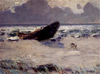 alter kahn am strand by eugen reich-münsterberg