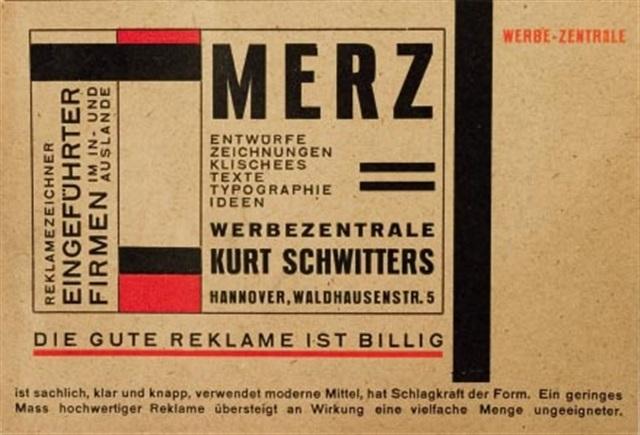 Werbekarte der Merz-Werbezentrale by Kurt Schwitters on artnet