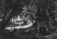 am brunnen bei ariccia by benno friedrich tormer