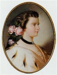 portrait der kaiserin elisabeth by auguste christian fleischmann