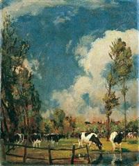 kühe auf der weide by karl langhammer