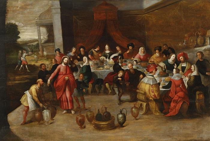 Die Hochzeit Zu Kana By Frans Francken The Elder On Artnet