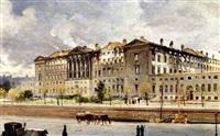 christiansborg efter branden i 1884 by carl christian andersen