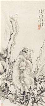 百步云梯图 (landscape) by dai benxiao