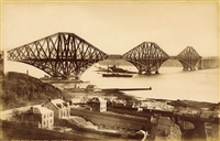 "forth bridge and h.m.s.""iron duke"" (+ another; 2 works) by james valentine"