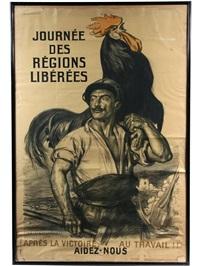 journee des regions liberees - apres le victoire, au travaill! aidez-nous by auguste leroux