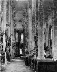 blick in den chorumgang der stiftskirche in straubing by rudolf huthsteiner