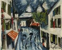 montmartre im regen by wilhelm goliasch
