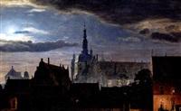 det gamle kobenhavn slot ved nattetide by carl christian andersen