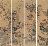 花卉 (flowers) (set of 4) by xu shuyu