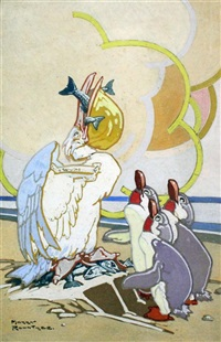 pelican and penguins by harry rountree