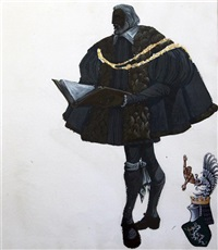 costume design for prospero, the duke of millaine by vassilis fotopoulos