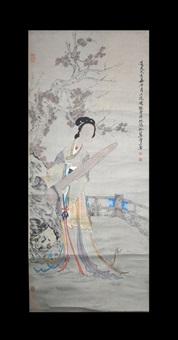 chinese figure painting by fei danxu
