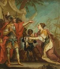 der großmut des scipio zeigt die rückgabe einer als kriegspreis festgenommenen frau an ihren verlobten by anonymous-italian (19)