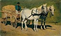 ungarisches fuhrwerk by wilhelm von lindenschmit the younger