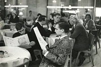 boys in restaurant, no date by henri cartier-bresson