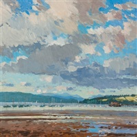boats and jetty, fairlie by douglas lennox