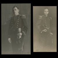 untitled (man in military uniform) (+ another; pair) by arnold genthe