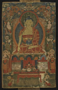 a thangka of shakyamuni buddha by anonymous-tibetan (19)