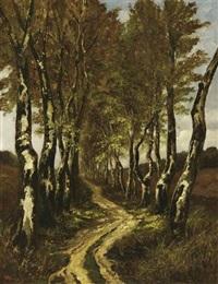 birkenallee by carel nicolaas storm van 's-gravensande