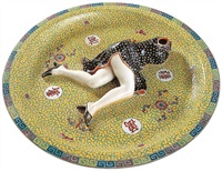 polychrome ceramic series - games by liu jianhua