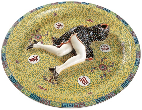 polychrome ceramic series games by liu jianhua