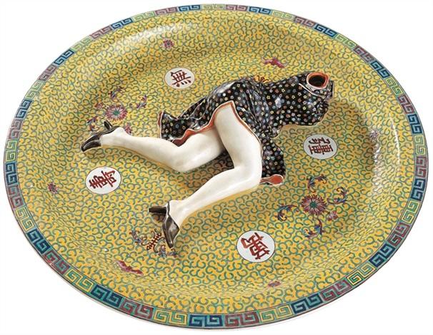 polychrome ceramic series games by liu jianhua