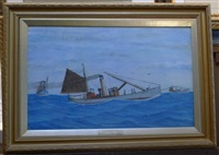 portrait of the yarmouth trawler, twenty-nine yh691 by tom swan