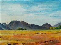 a landscape in kyrgyzstan. toz region, the city of bakonboe ajyly by ryskeldiv kartybek