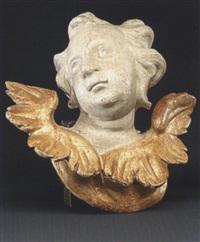 engel mit asymmetrischen flügelpaar und zur seite gedrehtem kopf by johann wolfgang von der auvera