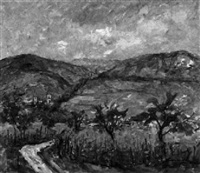 an der bergstrasse bei schriesheim by robert lauth