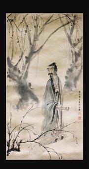 chinese figure painting by fu baoshi