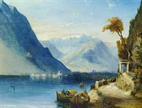 on lake como by william linton