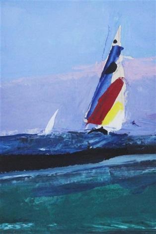 study seascape striped sail by donald hamilton fraser