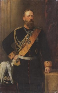 porträt des kaiser friedrich iii. im ornat by fritz hummel