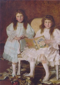 lorna and dorothy bell, daughters of w. heward bell by walter daniel batley