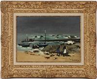 paysage côtier, la tempête by robert humblot