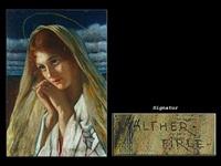 portrait einer jungen heiligen by walther fierle